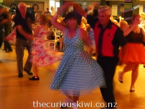 Rock 'n' roll dancing at the Whangamata Club