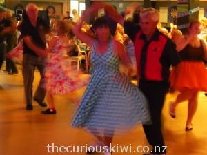 Rock 'n' roll dancing at the Whangamata Club