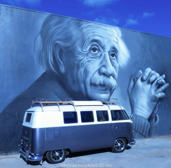 Albert Einstein in Ashworth Lane