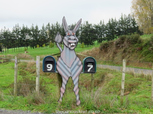 Corrugated iron donkey letter box