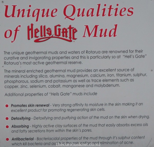 Information about Hells Gate mud