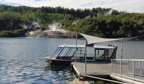 Catch this ferry across Lake Ohakuri to the geothermal area