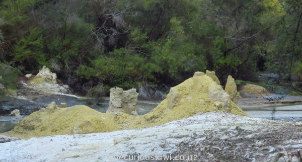 Yellow sulphur mounds