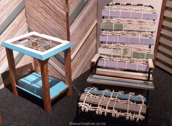 Chair and footstool by Judi Cameron to be auctioned at Isaac Theatre Royal