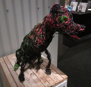 Dog made with electrical wiring by Deborah Walsh