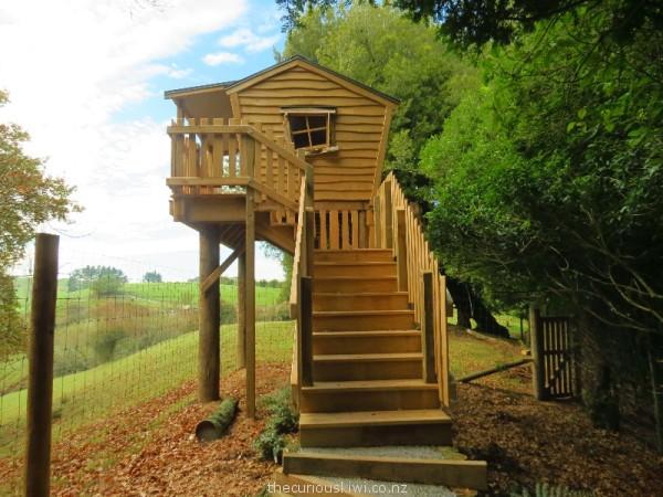 Cool crooked tree house at Stoney Oaks Wildlife Park