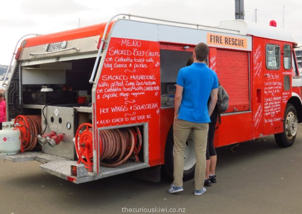 The Fire Truck at Harbourside Market in Wellington