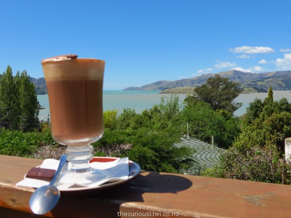 Hot chocolate with a view at She Universe