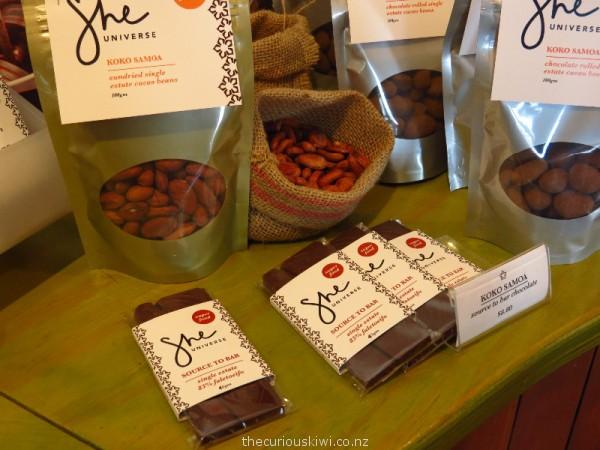 Source to bar chocolate from Samoa