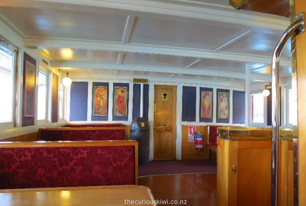 Interior of the TSS Earnslaw - you might find a quiet spot in the saloon