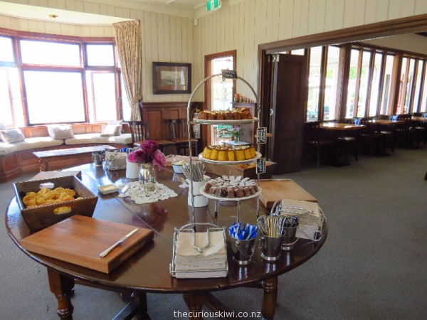 Buffet style afternoon tea at Walter Peak Farm