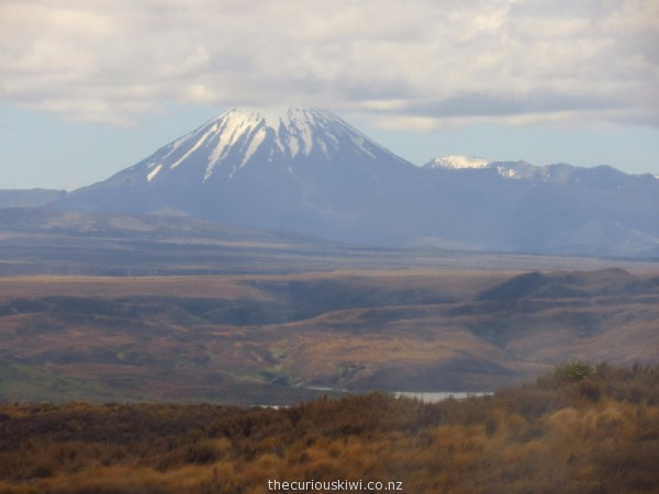 A hazy photo of Mt Ngauruhoe