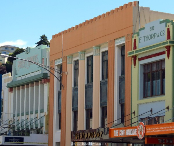 Three Art Deco buildings on Hastings Street (Thorp building has also been described as Prairie Style)