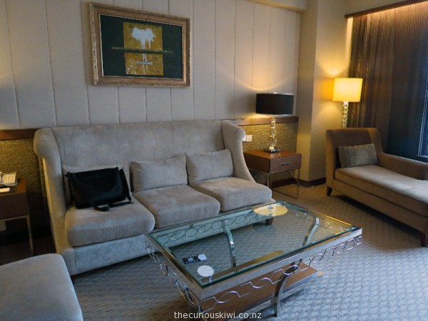 Lounge in a Junior Suite at Sofitel Macau