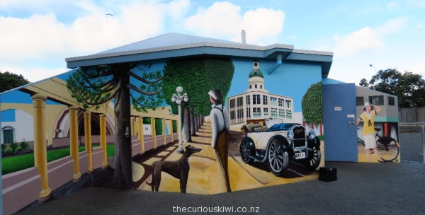 Art Deco themed public toilets in Napier