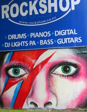 Tribute to David Bowie by Paul Walsh on K'Road