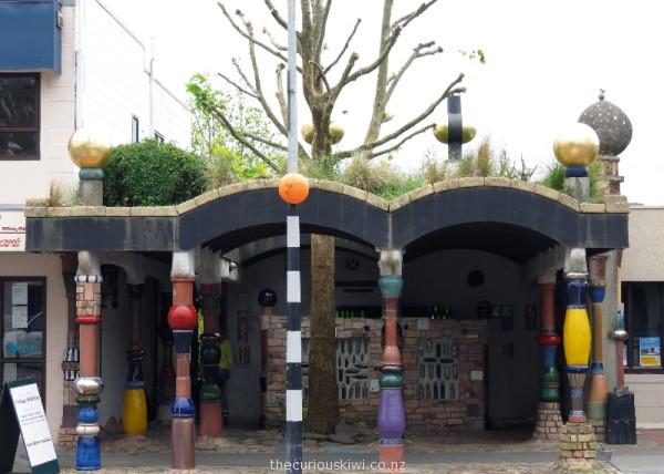 Hundertwasser designed public toilets in Kawakawa