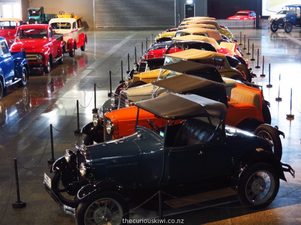 Look down over the soft top Fords from the Wearable Arts section