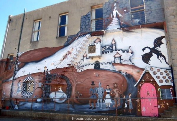 Fairy tale themed mural by Filipa (the Fairy) Crofskey on The Playhouse Theatre