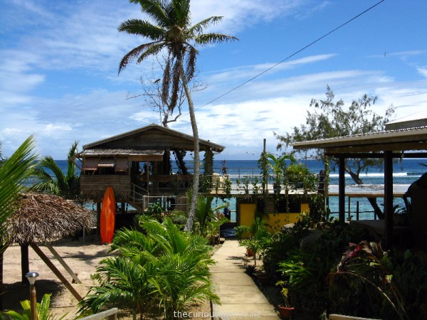 Look for whales from Sunset Restaurant at Liku'alofa Beach Resort in Ha'atafu