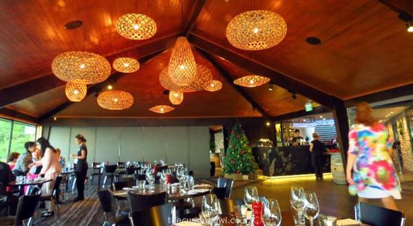 David Trubridge designed light fittings at Stratosphere Restaurant, Skyline Rotorua