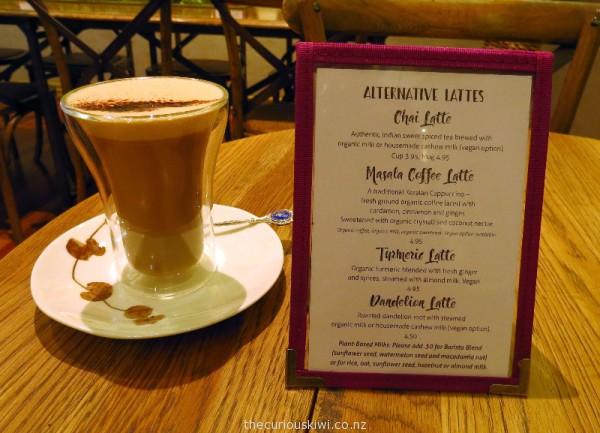 Masala Coffee Latte at The Lotus Heart