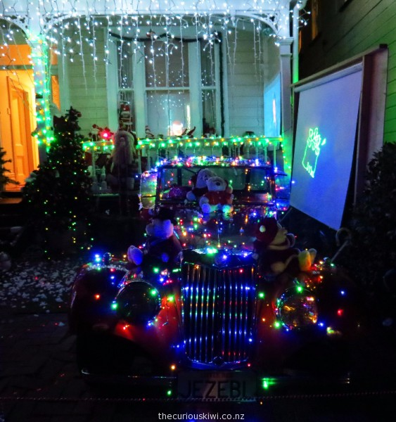 Merry Christmas In Lights From Franklin Road, Ponsonby