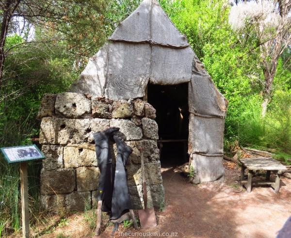 Gumdiggers hut - note the gumboots