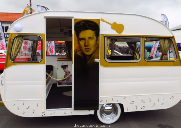 Elvis themed retro caravan