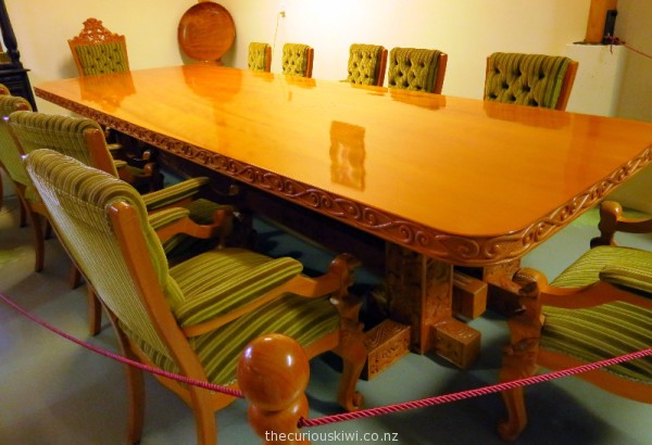 Dominion Breweries kauri boardroom table and chairs