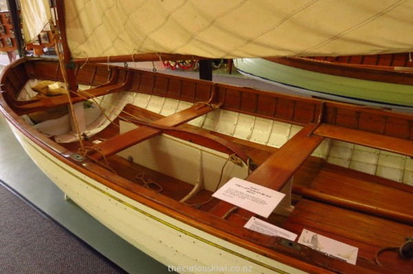 Kauri sailing dinghy designed and built by Arch Logan c.1938