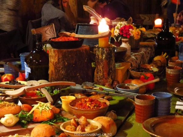 The feast - Evening Banquet Tour at Hobbiton