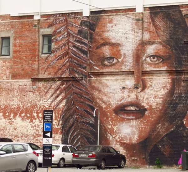 Rone's work in Christchurch, created for Rise Street Art Festival 2013