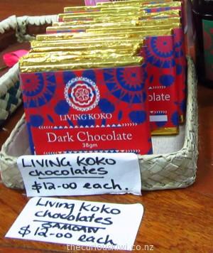Living Koko chocolate at Pacific Jewel
