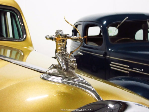 Hood ornament on a 1936 Factory Built Pierce Arrow