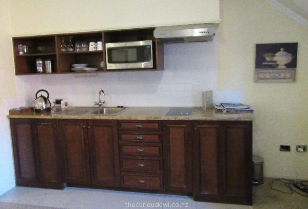 Kitchenette in a one bedroom studio at Grand Mercure Nelson Monaco