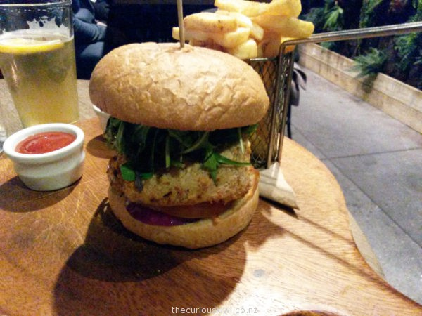 Burger and beer at Szimpla Gastro Bar