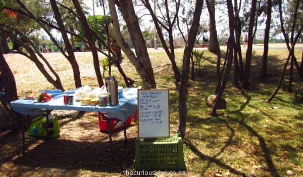 Food and drink stall at Kuto Bay, Isle of Pines