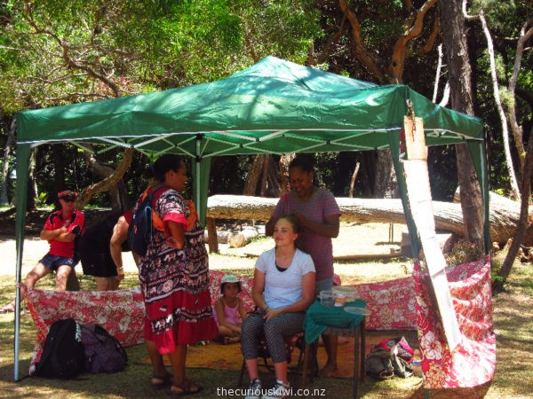 Get your hair braided in Kanumera Bay