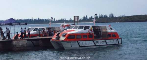 Carnival Legend tenders - used to get passengers from ship to shore (photo taken in Isle of Pines)