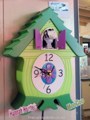 Hannah Holstein Cow Clock