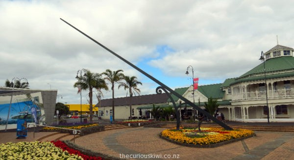 Giant sun dial outside Claphams Clock Museum in Whangarei