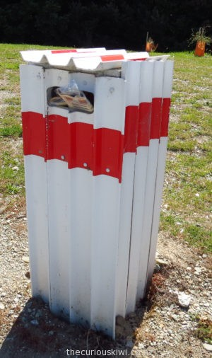 Road marker letter box