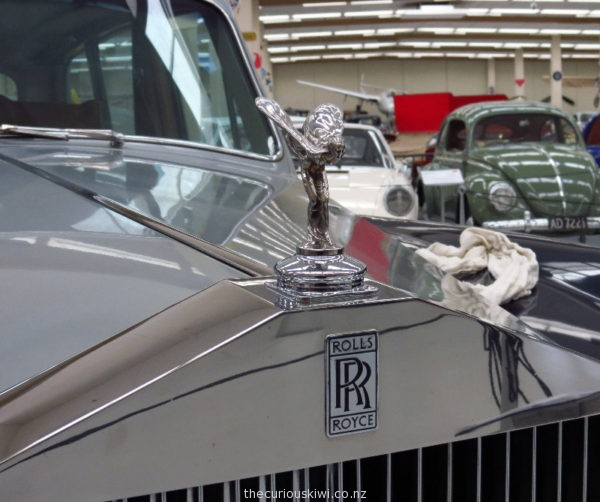 Spirit of Ecstasy ornament on a Rolls Royce at Southward Car Museum