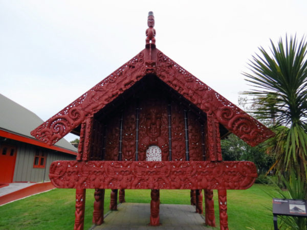 Pataka (elevated storehouse) at Te Puia in Rotorua
