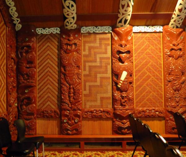 Interior of Te Aronui-a-rua wharenui
