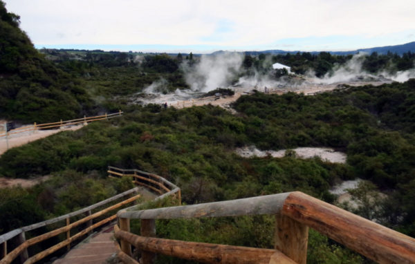 Looking across the geothermal valley