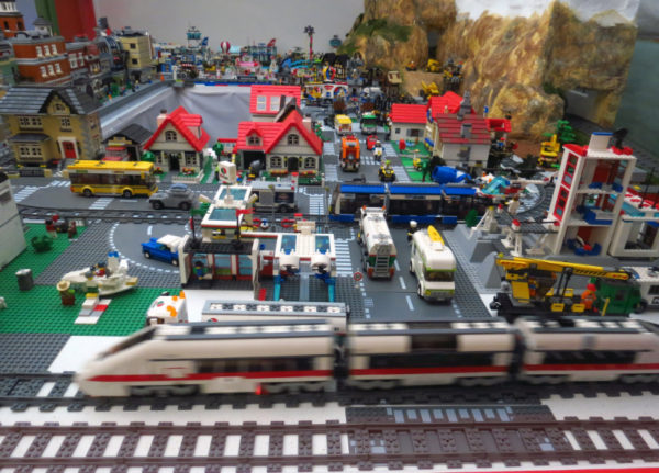 LEGO train set at The Toy Collector in Christchurch
