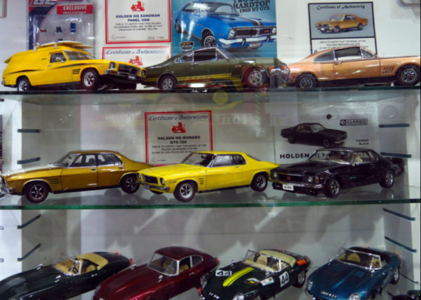 Holdens and Jaguars at The Toy Collector