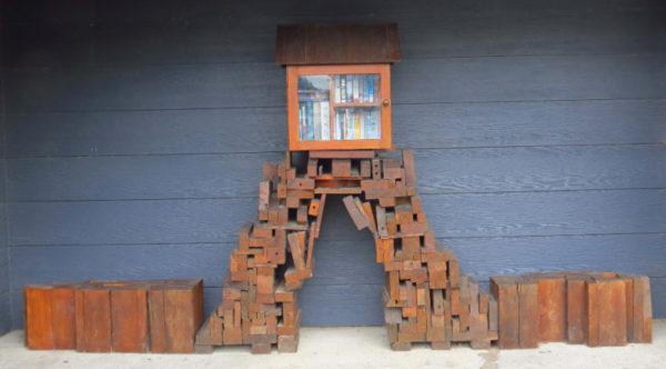 Pokeno Little Free Library near the public toilets
